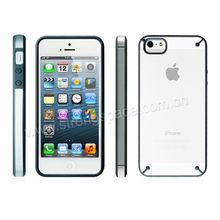 2013 Latest new Dual injection for iphone5 hybrid case with Black Camera Ring , for new iphone combo case