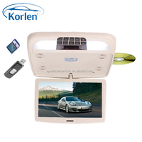 9 inch car flip down dvd player with USB/SD/MP5/IR/FM/GAME/DVD