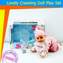 TOYZ Lovely Crawling Baby BO Doll 4-sound cry, laugh, Daddy Mummy