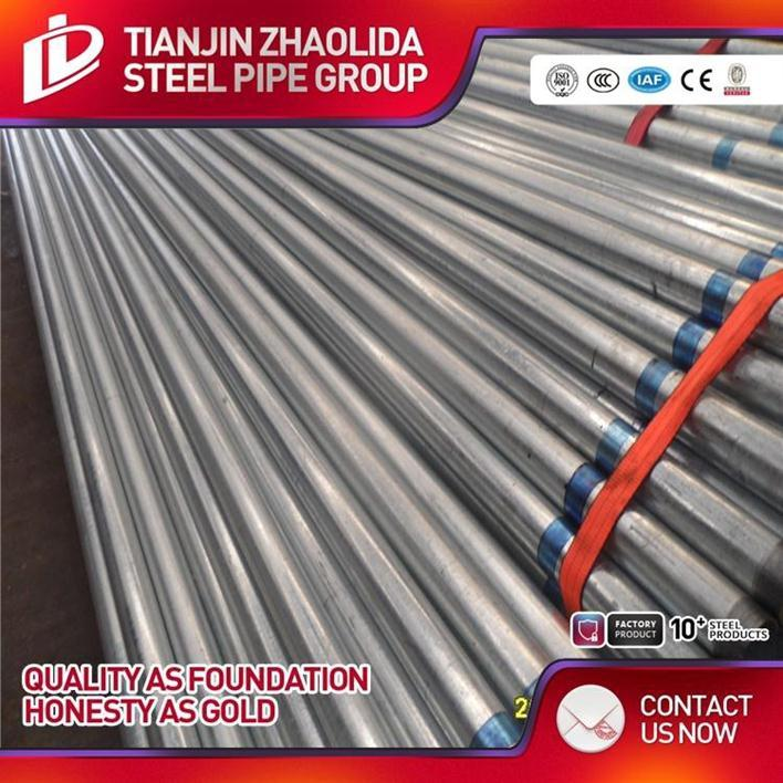 BS1387 SCH 40 60 ERW Hot dipped galvanized steel tube used in Australia market for building material