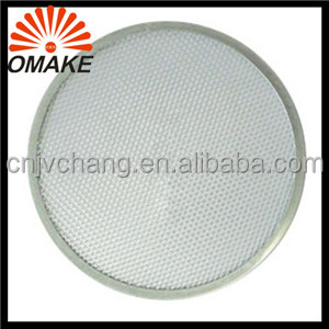 Reliable Supply 6-20 Customized Aluminum Expanded Mesh Wire Pizza Baking Tray, Pizza Screen, Metal Pizza Net