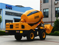 self loading concrete mixer truck with weighting system