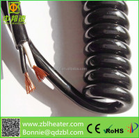 customized RVUT REVT RPUT material, Spiral cable, coiled cable