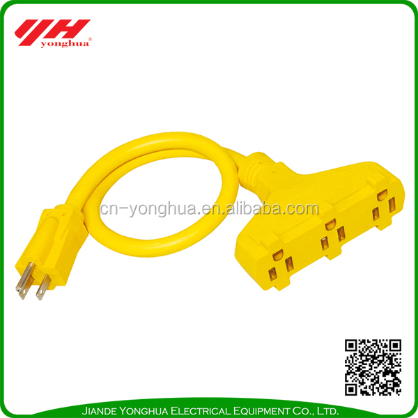 Durable using straight insert electrical plug ac power cord