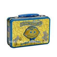 Nice-Can mini tin lunch box for kids with handle and lock