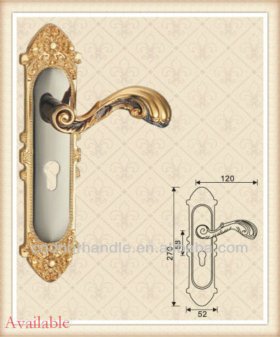 Wholesale door handle with plate brass door handles flat door handle