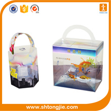 supply with the handle transparent custom uv offset packaging box printing