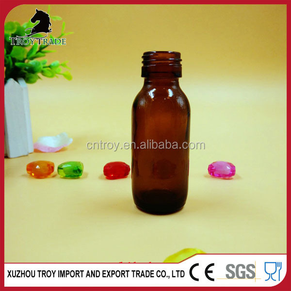 high quality 30ml amber medicine liquid glass bottle for maple syrup with low price