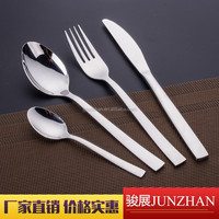Perfect gift cutlery, plain handle spoon fork knife with stainless steel material and low price