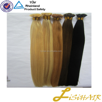 Wholesale 100% real remy double drawn italian keratin silky straight ombre i tip hair extension
