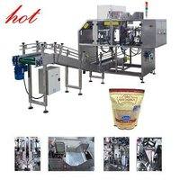 horizontal pet food doypack packing machine