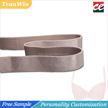 High tenacity shiny pure color nylon elastic bra strap manufacturer