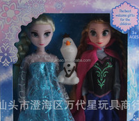 HI CE frozen plastic anna elsa olaf doll best selling