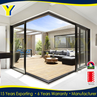 Residential house Aluminium safe glass exterior corner Balcony sliding Doors