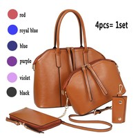 Hot sale 4pcs set bag Designer handbag for women with good leather factory price