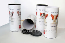 High quality Customized Paper tube with movable plastic lid for tennis or golf ball packaging