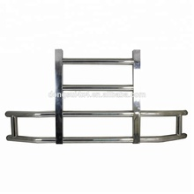 Dongsui 304 SS Heavy Duty Semi Big Truck Body Spare Parts For Freightliner Cascadia Front Bumper Grille Deer Guard