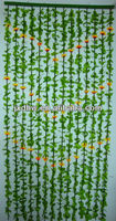 Colored Plastic Fabric Leaf Bamboo Curtain