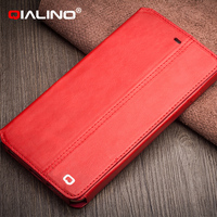 QIALINO Top Quality Custom Made Handmade For Iphone 6 Plus Genuine Leather Phone Case