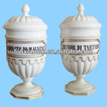 Italian decorative storage white porcelain apothecary jars