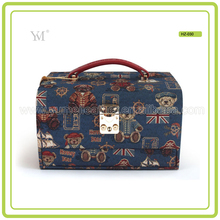 Pretty Fashion Professional Retro Train case Makeup With Handle