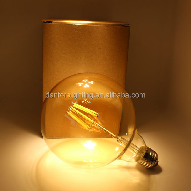 CE UL ETL approved 6.5W G95 G30 milky white globe led bulb