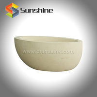 Light Beige Limestone Custom Size Bathtubs