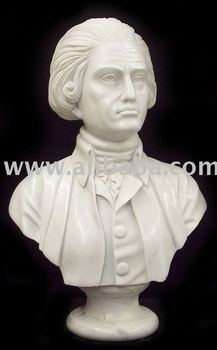Marble statue- Thomas Jefferson Bust