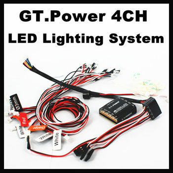 GT.Power 5v 4-channel Professional LED Lighting System 4ch for RC Car Trucks