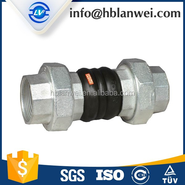EPDM JGD-B Thread-Connection Rubber Joint Connector Expansion Flexible Joint Union Type