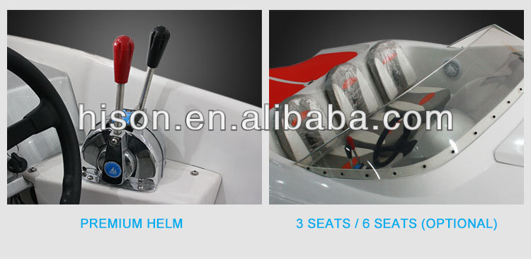 Hot sale 6 seats double engined et fiberglass boat hulls luxury yacht