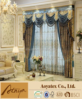 luxury jacquard curtain with china factory