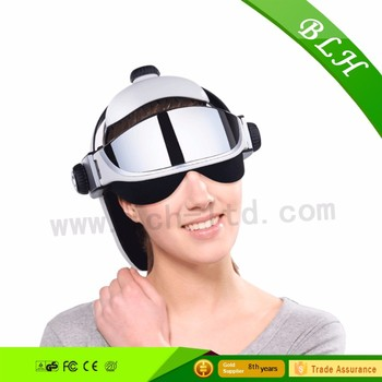 2016 musical hot compress eye head heated Air Pressure vibration eye head massager for health care
