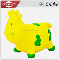 PVC inflatable cow toy/jumping animal toy/hopper animal