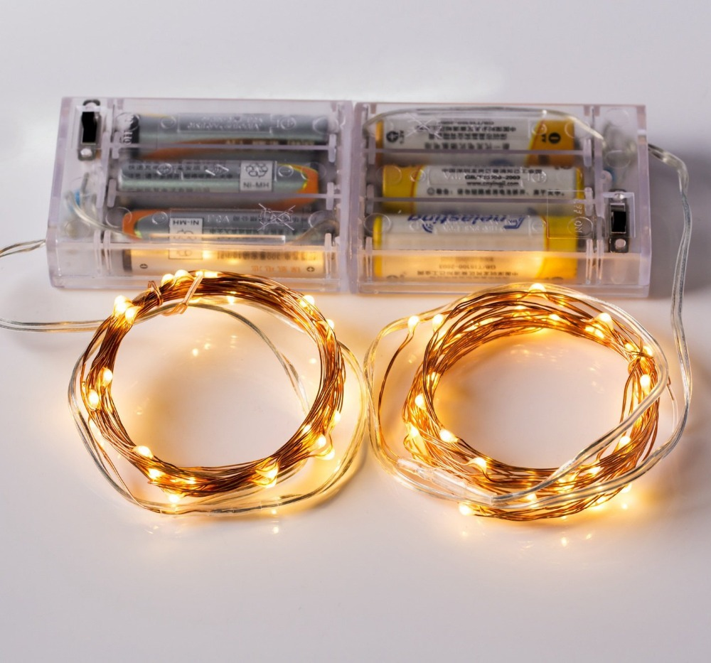 Warm White Led Copper Light/Led Battery Operate Mini Light String/Copper Wire Lights
