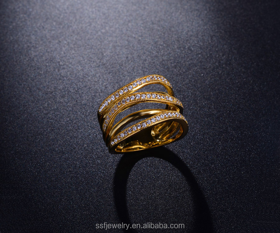 high quality 925 silver jewelry latest gold rings design for women