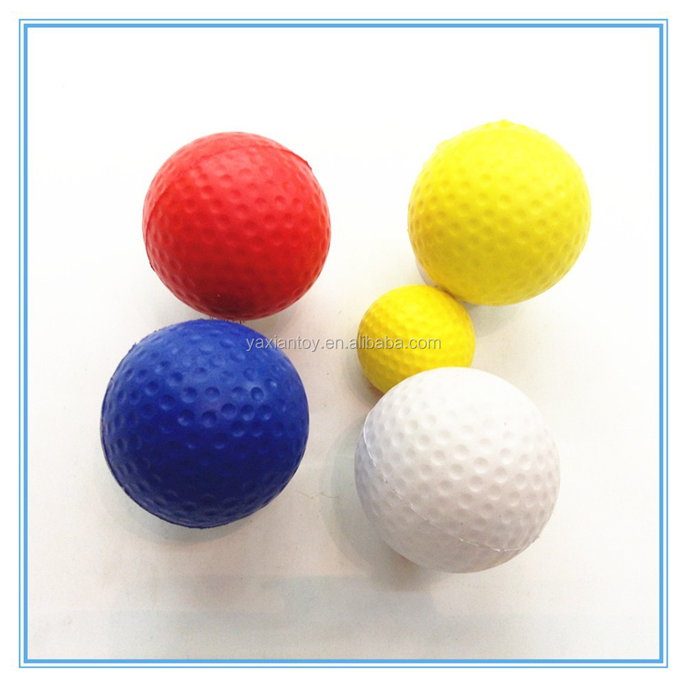 custom logo printed 63mm pu foam golf balls