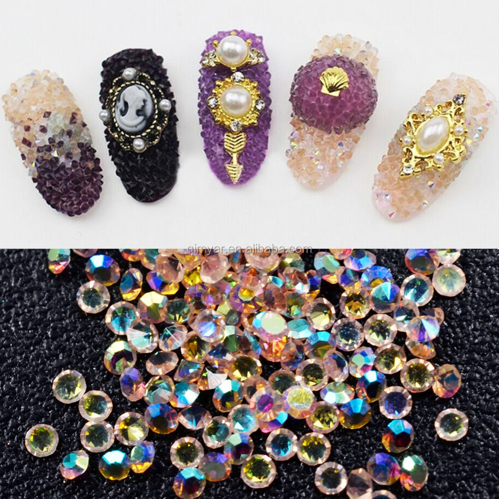 New Fashion Tiny Mini Crystal Pixie Micro 1.2mm Mini Nail Arts Rhinestones Decoration DIY For 3D Nail