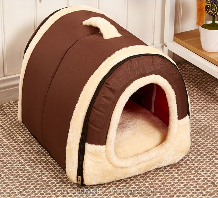 Portable folding Dog House Cat and dog winter bed