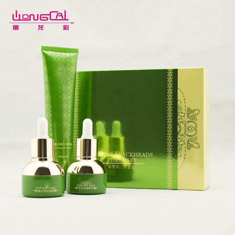 Customized design luxury empty skin care cream paper cosmetic gift set packaging box