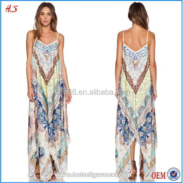 Bohemian Clothing Style Printed Design Bohemian Dress