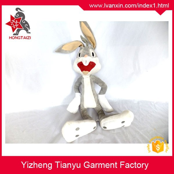 Kids stuffed long ear doll plush rabbit plush bugs bunny toys