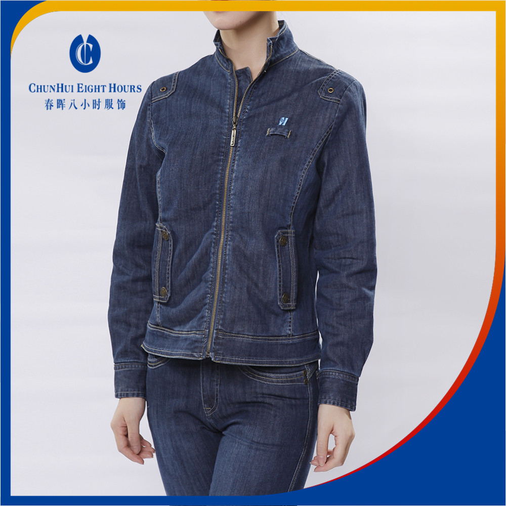 Men and women Jean jacket and trouser pants compse of 96 72 97 98 95 cotton and 5 4 2 3 spandex or polyester denim fabric