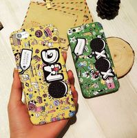 2016 top selling retro creative hard pc graffiti mobile phone cover for iphone 6