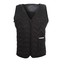 2016 male black battery heat thermal jacket,Mens winter Inner Vests