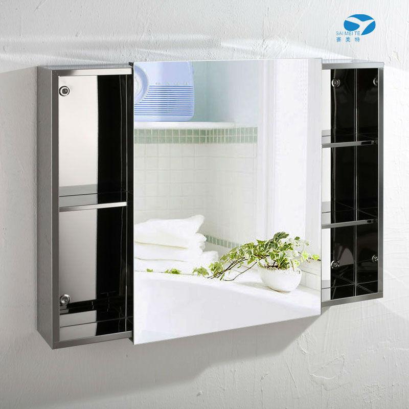 neues design edelstahl schiebet r bad spiegelschrank a7009 kabinett des badezimmers produkt id. Black Bedroom Furniture Sets. Home Design Ideas