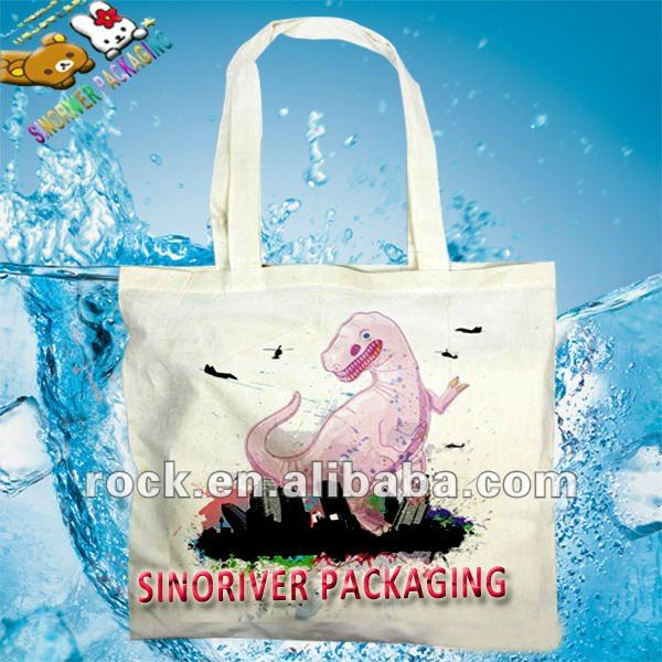 eco friendly promotional recycled cotton tote bag