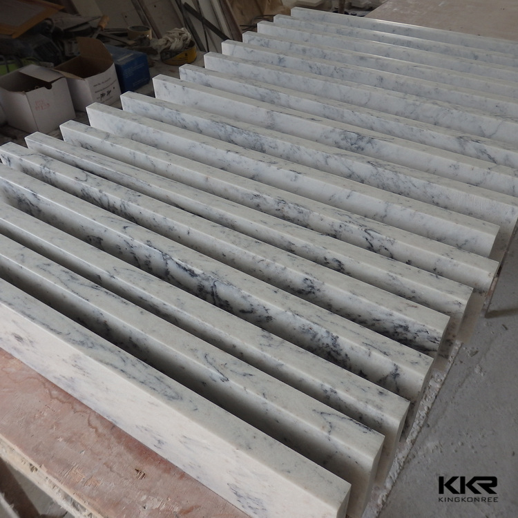 pure white artificial stone composite window sill