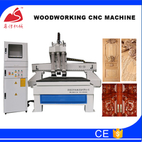 High quality 1325 Cylinder ATC carving cnc router wooden door manufacturing machines