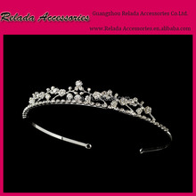Wedding Parties Beauty Queen Crowns Rhinestone Pearl Tiaras For Girls